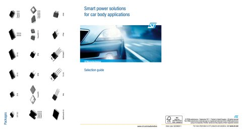 Smart power solutions for car body applications