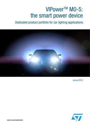 VIPowerTM M0-5:  Dedicated product portfolio for car lighting applications the smart power device
