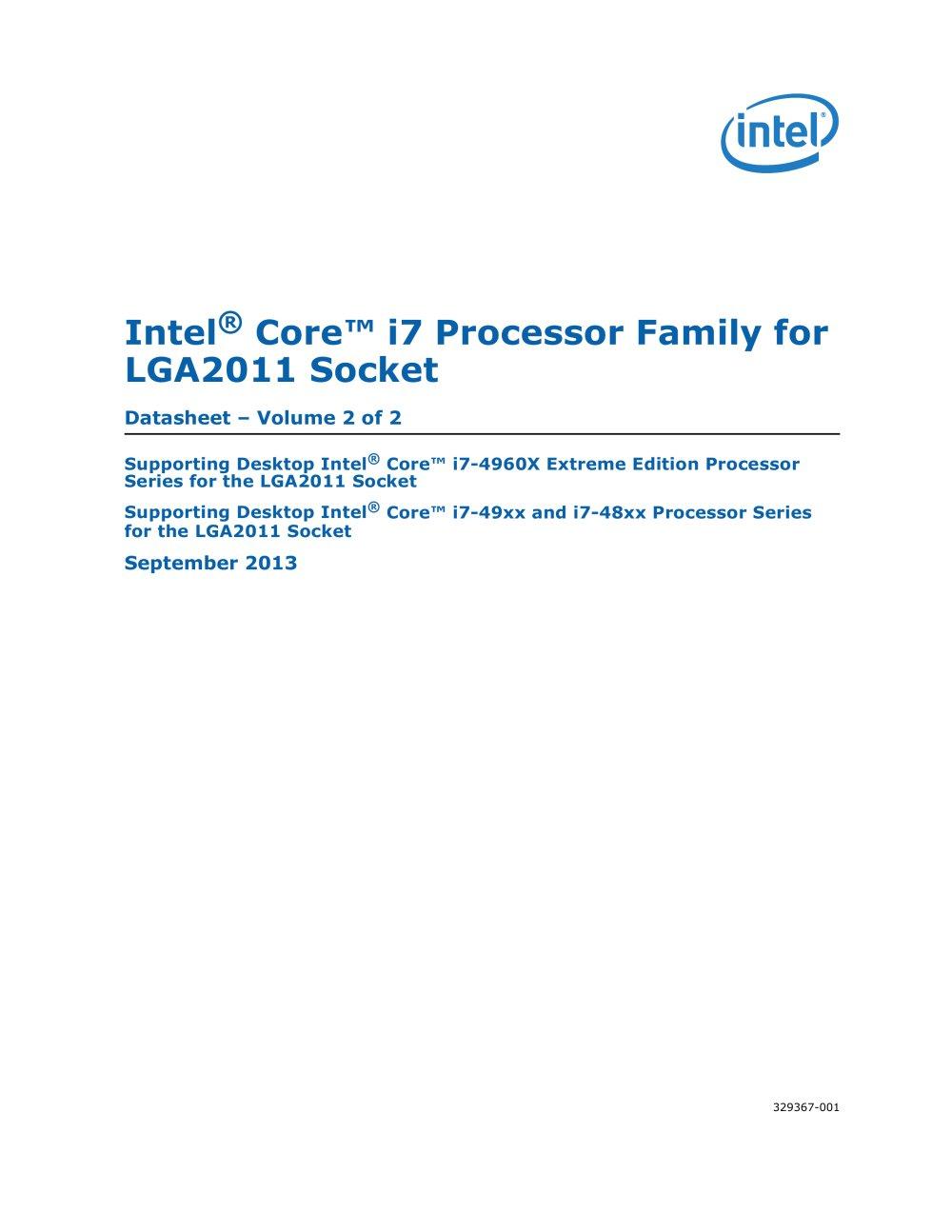 Intel Core I7 Processor Pdf