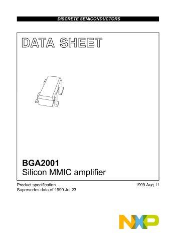 BGA2001 Silicon MMIC amplifie