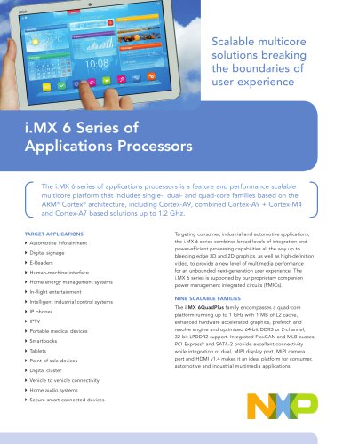 i.MX 6 Series of Applications Processors