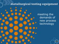 Metallurgical testing equipment - 2