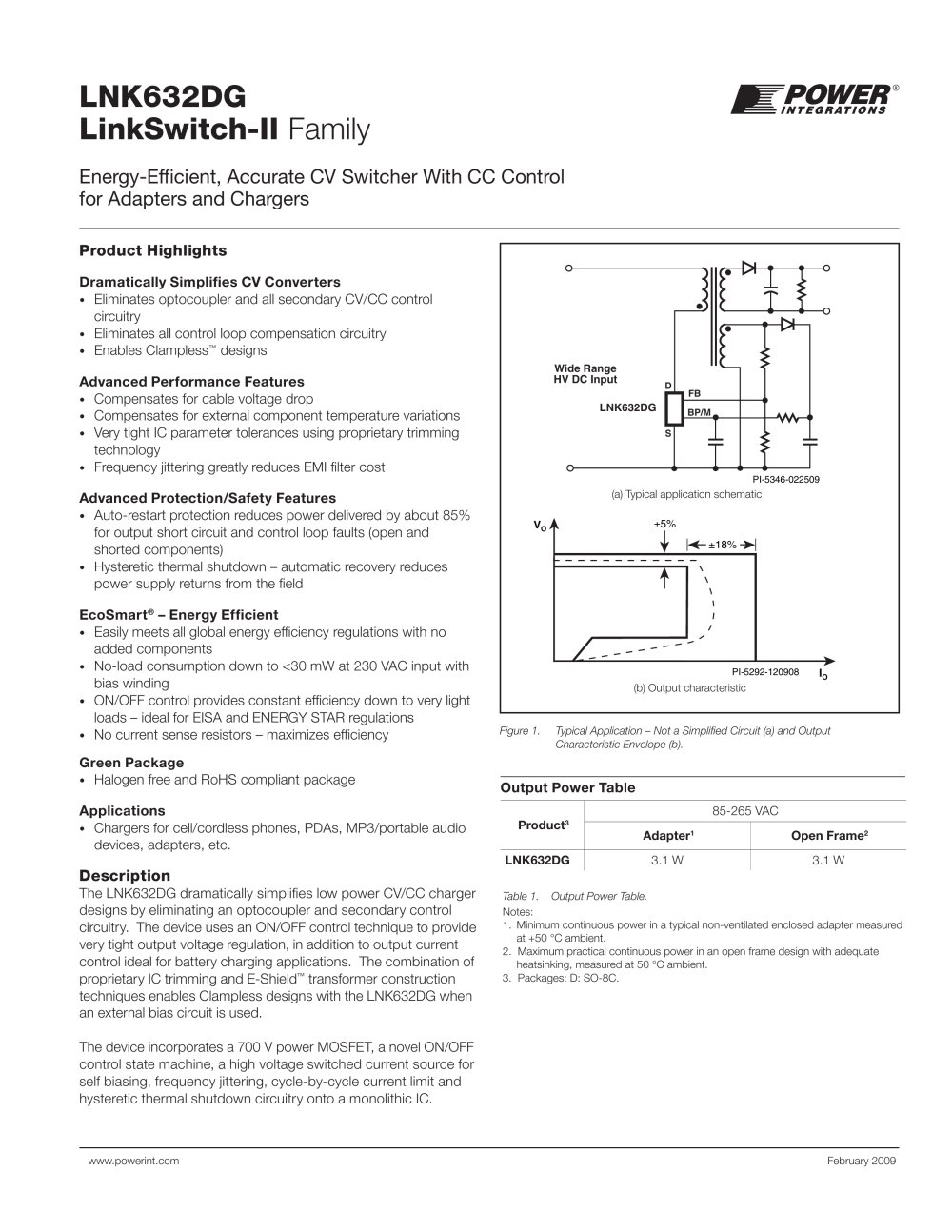 Linkswitch Ii Power Integrations Pdf Catalogue Technical Regulated Supply Application Circuit Diagram Powersupply 1 10 Pages