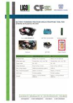 BATTERY-POWERED FRICTION-WELD STRAPPING TOOL FOR STRAPS IN PLASTIC PP/PET -LIGO-SMART LT - 1