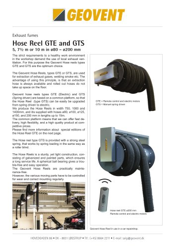 Hose Reel GTE and GTS
