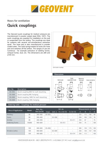 Quick-Action couplings