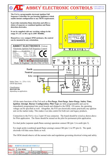 FL4552 ELECTRONIC IGNITION CONTROLLER FOR COFFEE ROASTERS