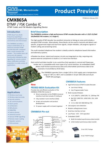 CMX865A Product Preview