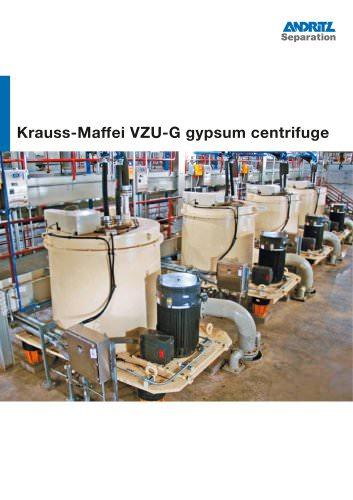 ANDRITZ Krauss-Maffei VZU-G gypsum centrifuge