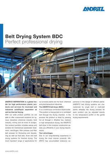 Belt Drying System BDC