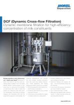 DCF crossflow filter for dairy - 1