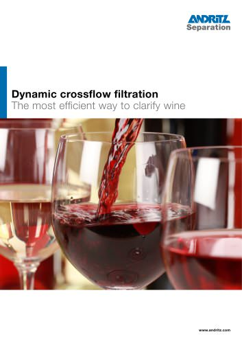 DCF crossflow filter for wine