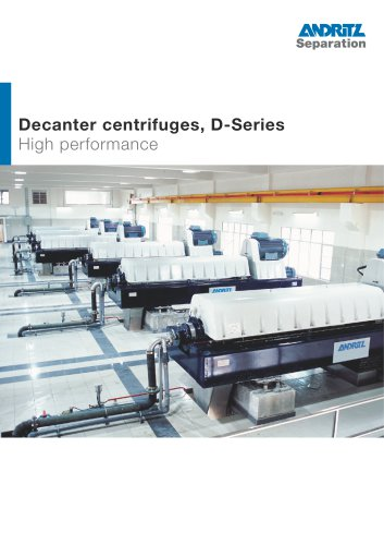 Decanter centrifuges, D-Series
