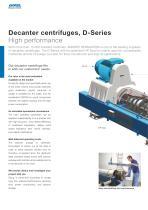 Decanter centrifuges, D-Series - 2