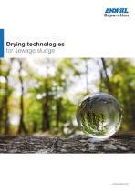 Drying technologies for sewage sludge - 1