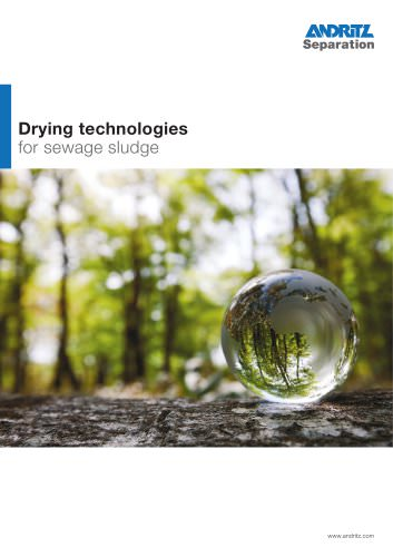 Drying technologies for sewage sludge