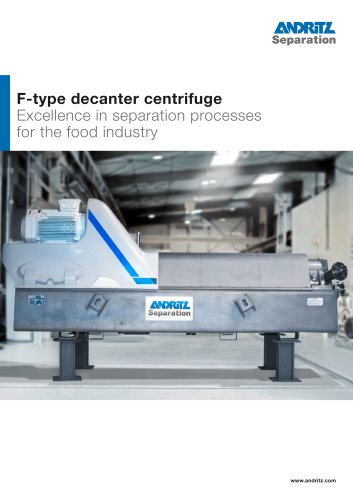 F-type decanter centrifuge