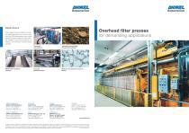 Filterpresses, overhead design - 1