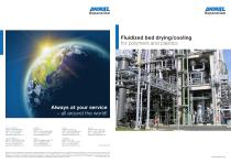 Fluidized bed drying system for polymers and plastics - 1