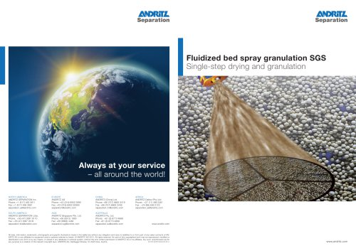 Fluidized bed drying system ? Spray granulation