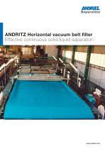 Horizontal vacuum belt filter - 1