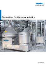 Separators for the dairy industry - 1