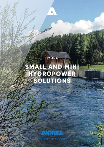 SMALL AND MINI HYDROPOWER SOLUTIONS