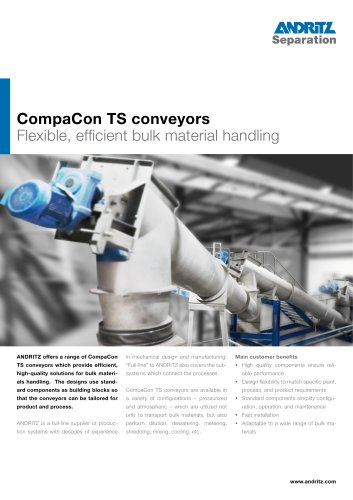 TS Conveyors: Flexible, efficient bulk material handling