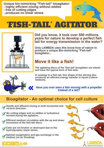 Bio mimicking agitation for MINIFOR laboratory fermentor bioreactor system