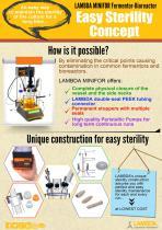 Easy Sterility Concept of LAMBDA MINIFOR Laboratory Fermentor-Bioreactor