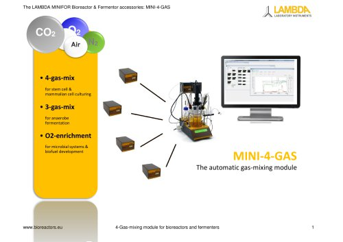 MINI-4-Gas, the automatic gas-mixing module - Leaflet