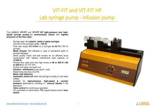 VIT-FIT high-pressure syringe pump - infusion pump - Leaflet