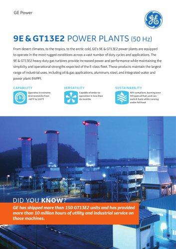 9E & GT13E2 POWER PLANTS - GE Gas Turbines - PDF Catalogs