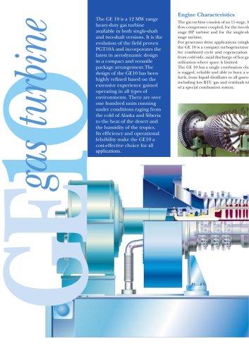 GE10 Gas Turbine - GE Gas Turbines - PDF Catalogs