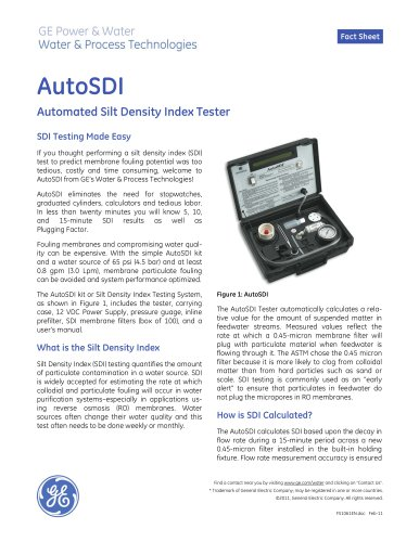 AutoSDI - Automated Silt Density Index Tester