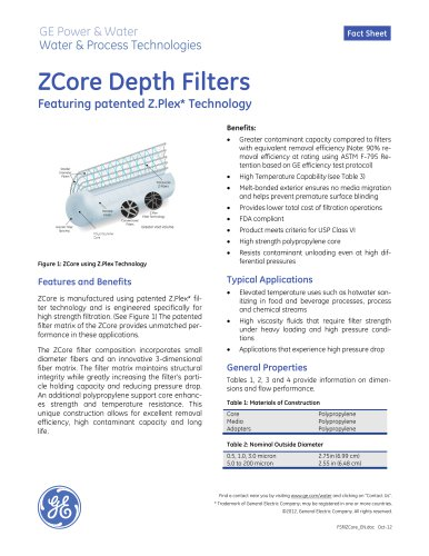 Depth Filter Cartridges