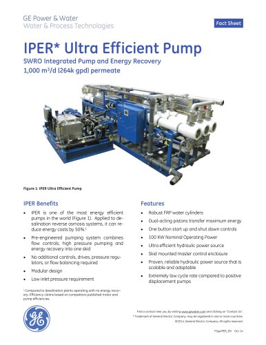 Integrated Pump and Energy Recovery Pump (IPER)