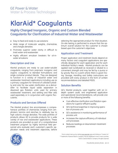KlarAid Coagulants