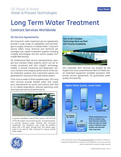 Long Term Water Treatment