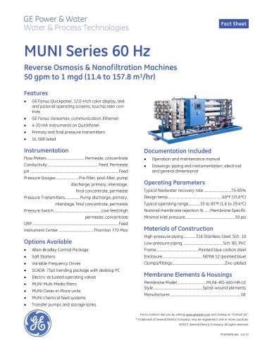 MUNI Series 60 Hz