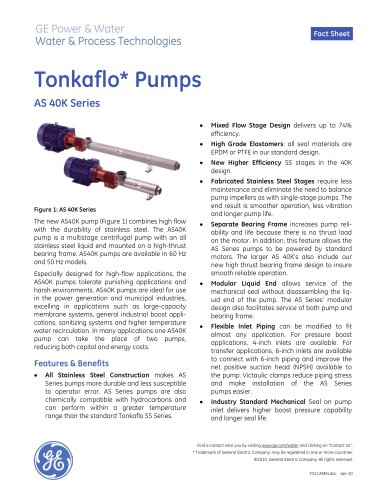Tonkaflo Pumps AS 40K Series