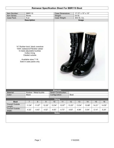 BBR110 Boots