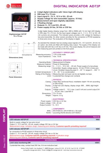 data sheet AD72P