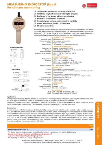 data sheet floraII