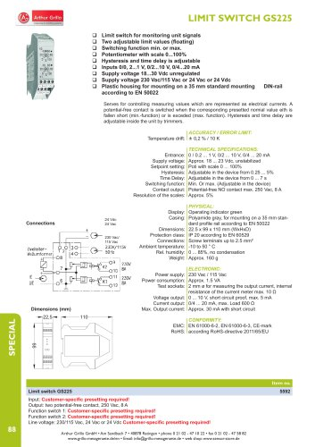 data sheet GS225