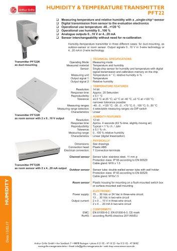 data sheet PFT22