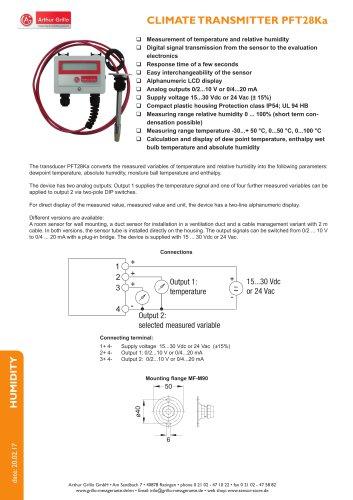 data sheet PFT28KA