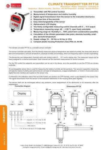 data sheet PFT30