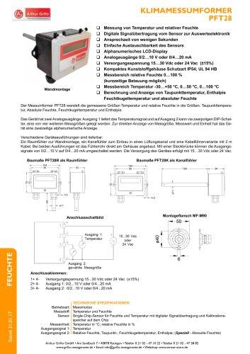 Datenblatt PFT28