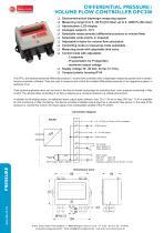 DIFFERENTIAL PRESSURE /  VOLUME FLOW CONTROLLER DPC200-R